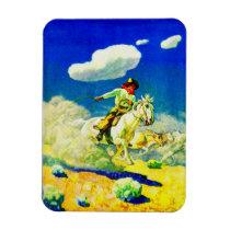 N. C. Wyeth cowboy Magnet