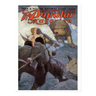 N.C. Wyeth - portada de revista poste popular de Postales