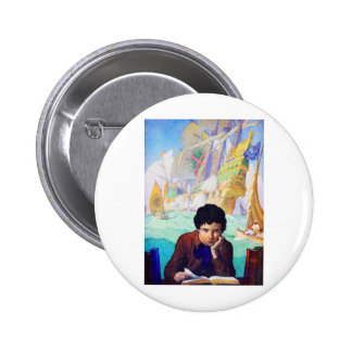 N C Wyeth's Tales Of Adventure Pinback Button