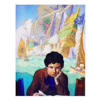 N C Wyeth's Tales Of Adventure Postcard