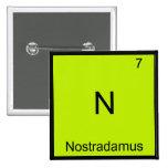 N - Camiseta divertida del símbolo del elemento de Pin