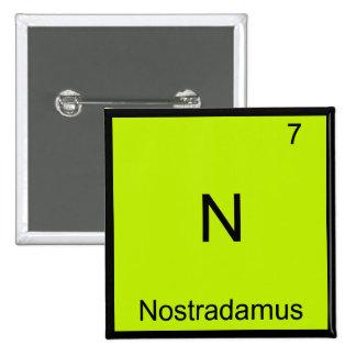 N - Camiseta divertida del símbolo del elemento de Pin Cuadrado