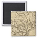 N Carolina, S Carolina 2 Inch Square Magnet