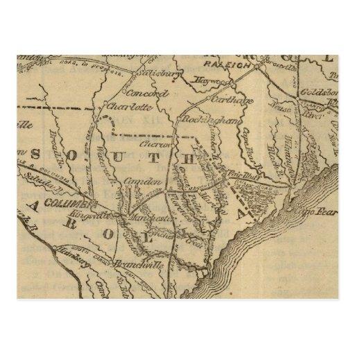 N Carolina, S Carolina Postcard