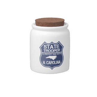 N. Carolina State Trooper To Protect And Serve Candy Dish