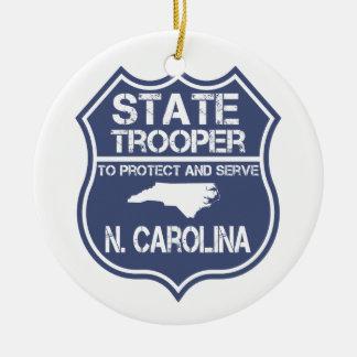 N. Carolina State Trooper To Protect And Serve Ceramic Ornament