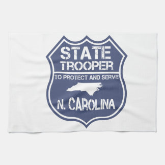 N. Carolina State Trooper To Protect And Serve Kitchen Towel