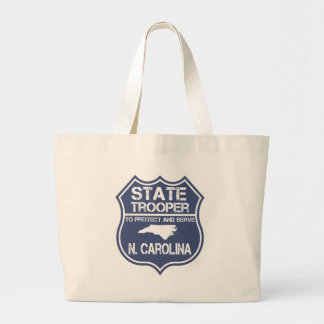 N. Carolina State Trooper To Protect And Serve Large Tote Bag