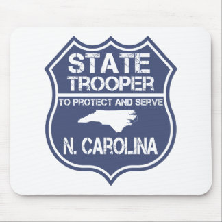 N. Carolina State Trooper To Protect And Serve Mouse Pad
