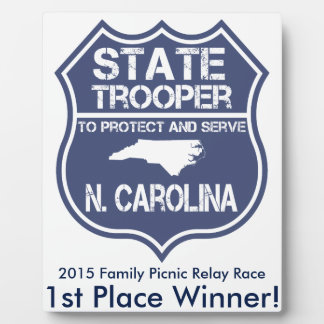 N. Carolina State Trooper To Protect And Serve Plaque
