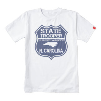 N. Carolina State Trooper To Protect And Serve Zazzle HEART T-Shirt
