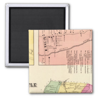 N Castle, Town 2 Inch Square Magnet