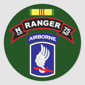 N Co, 75.o regimiento de infantería - Pegatina Redonda