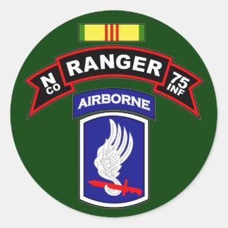 N Co, 75th Infantry Regiment - Rangers, Vietnam Classic Round Sticker