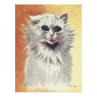 N° de pintura 1 del gato persa tarjeta postal