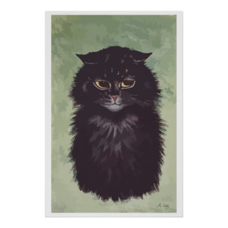 N° de pintura 2 del gato persa posters