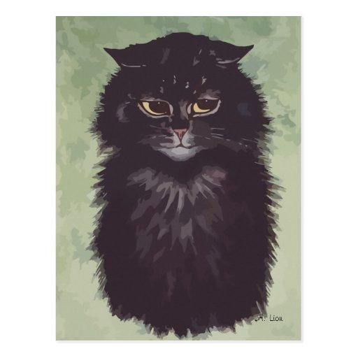 N° de pintura 2 del gato persa tarjeta postal