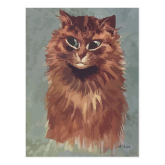 N° de pintura 4 del gato persa tarjeta postal