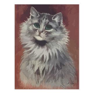 N° de pintura 5 del gato persa postal