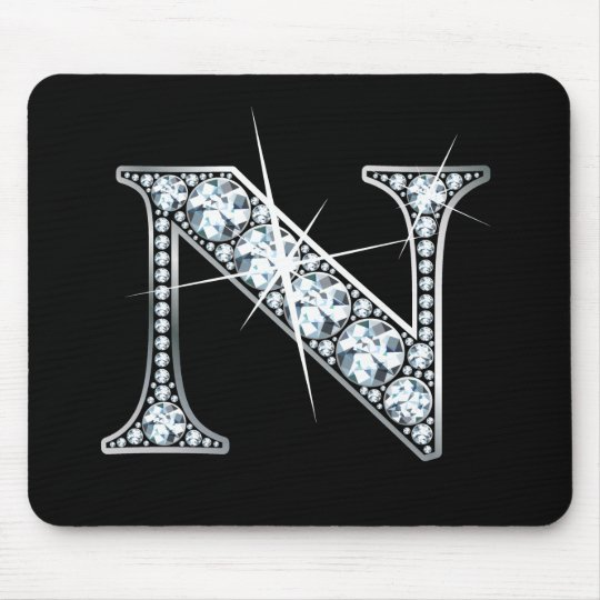 """N"" Diamond Bling Mousepad"