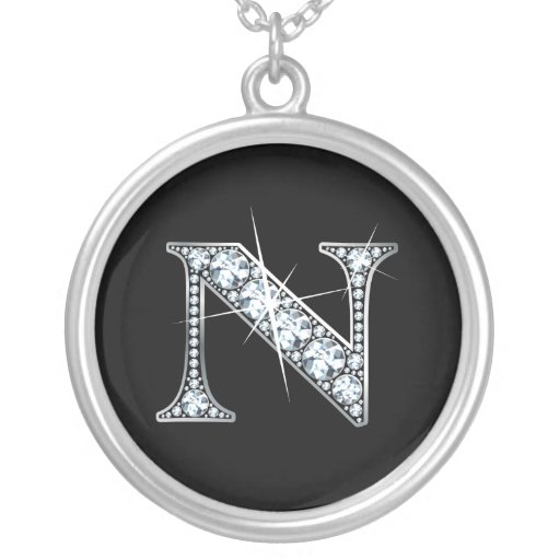 """N"" Diamond Bling Necklace"