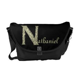 N - El alfabeto de Falck (de oro) Bolsas De Mensajería
