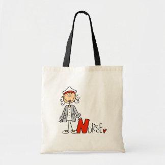 N está para la enfermera bolsa tela barata
