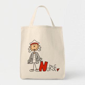 N está para la enfermera bolsa tela para la compra