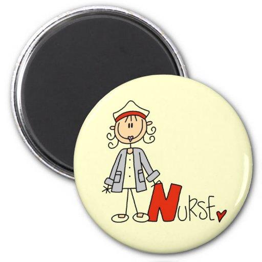 N está para la enfermera imán redondo 5 cm
