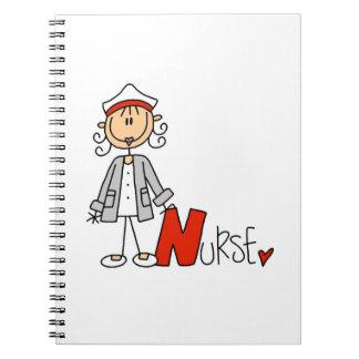 N está para la enfermera libro de apuntes con espiral