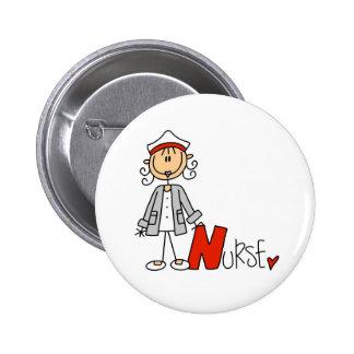 N está para la enfermera pin redondo 5 cm