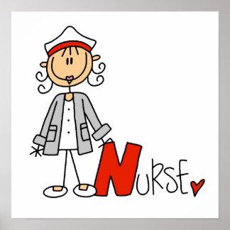 N está para la enfermera póster