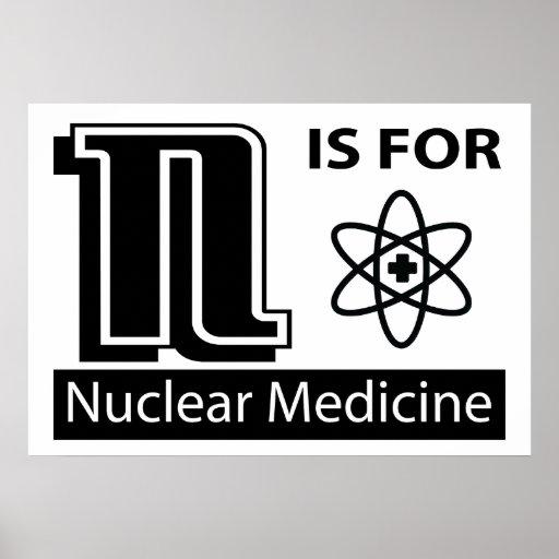 N está para la medicina nuclear impresiones