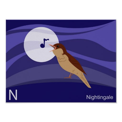 N for nightingale Poster