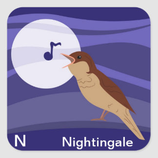 N for Nightingale Sticker