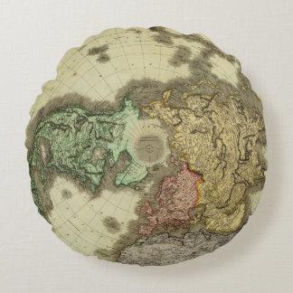 N Hemisphere Round Pillow