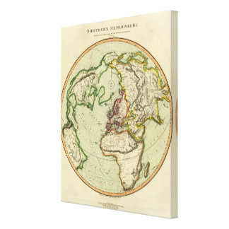 N Hemisphere, plane of London Stretched Canvas Prints