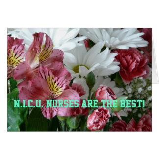 N.I.C.U. ¡Las enfermeras son el mejor! - Ramo Tarjeta De Felicitación