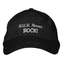 N.I.C.U. Nurses Rock! Embroidered Baseball Cap