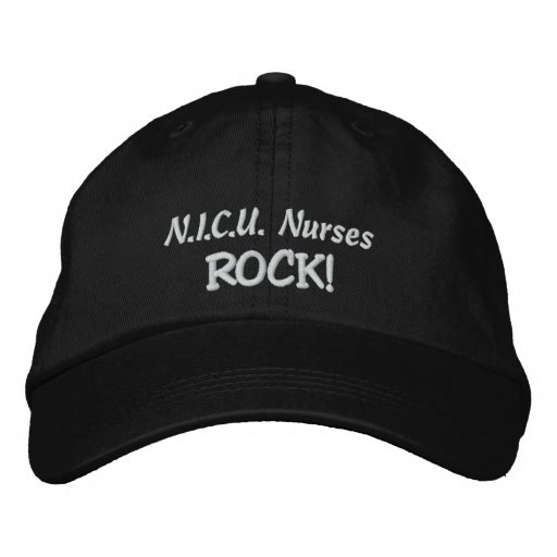 N.I.C.U. Nurses Rock! Embroidered Baseball Cap