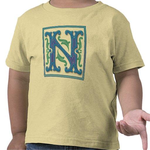 N inicial - Letra N Camisetas
