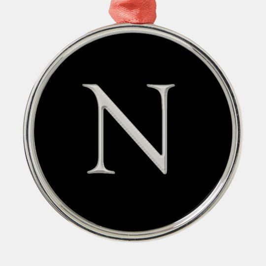"""N"" initial Christmas Ornament"