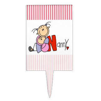 N is for Nanny Rectangle Cake Toppers