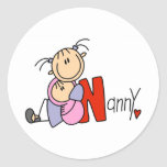 N is for Nanny Round Sticker