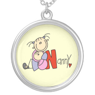 N is for Nanny Silver Plated Necklace