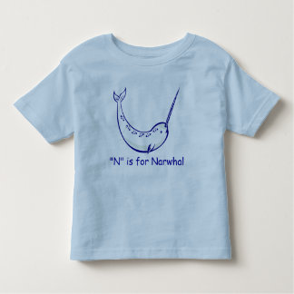 N is for Narwhal Learn to Spell Toddler T-shirt