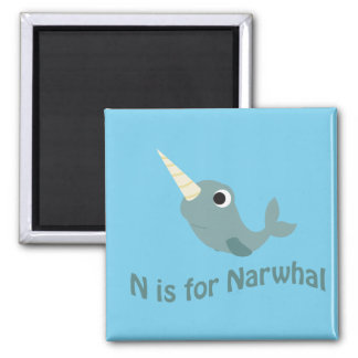 N is for Narwhal Magnet