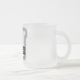 N is for Nash Frosted Glass Coffee Mug