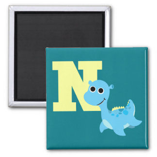 N is for Nessie 2 Inch Square Magnet