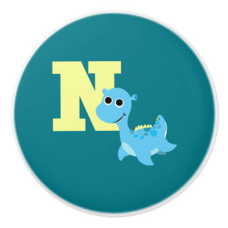 N is for Nessie Ceramic Knob